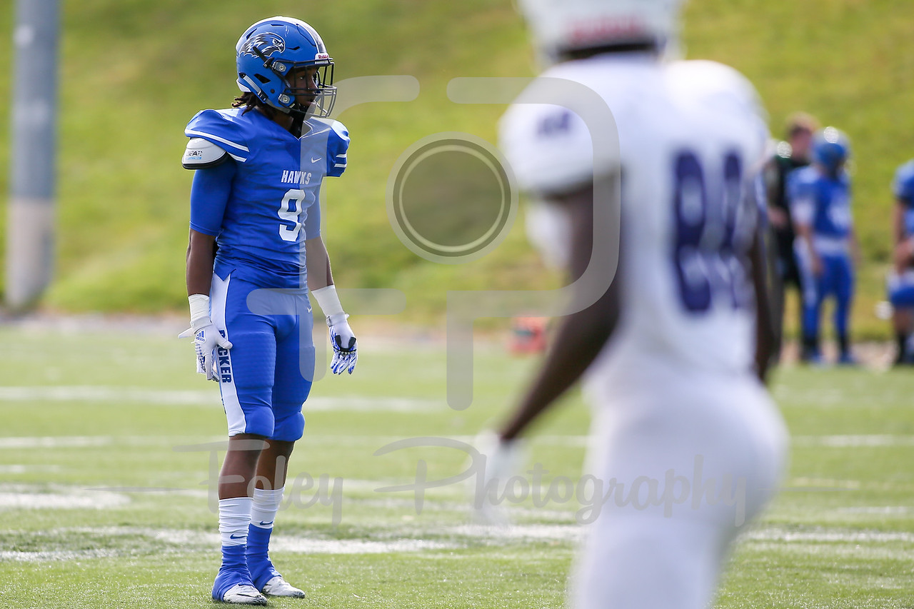 Becker College Hawks defensive back Shahiem Wilson (9)