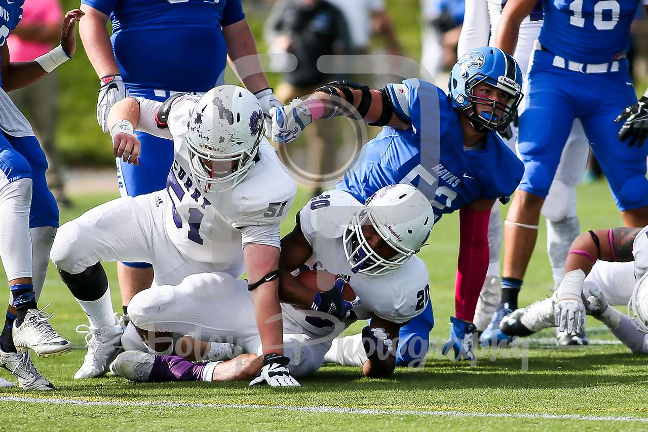 Becker College Hawks linebacker Michael Bianco (52)
