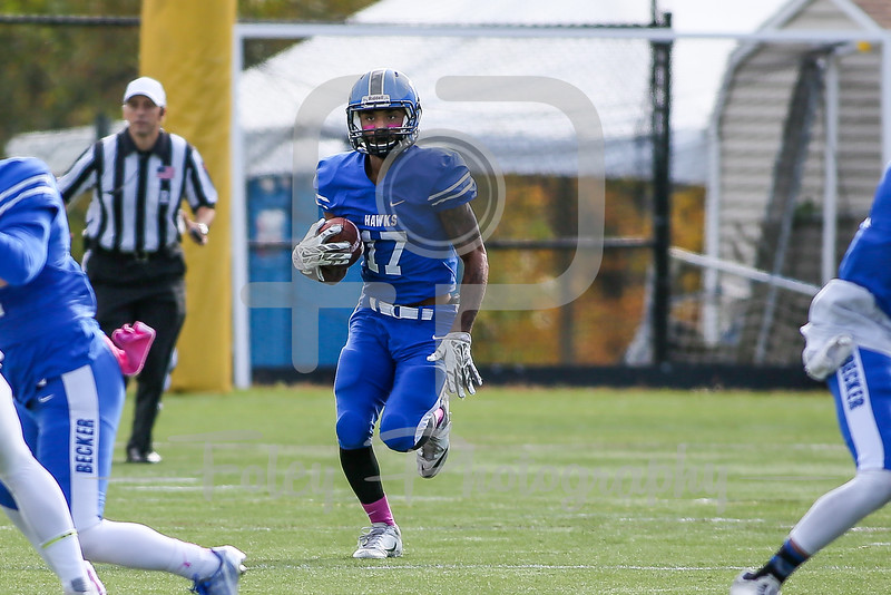 Becker College Hawks defensive back Jay Maxwell (17)