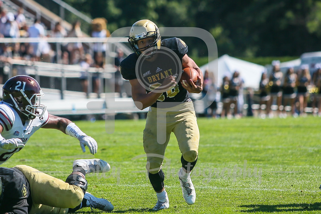 Bryant University Bulldogs running back Isaac McCray (26)