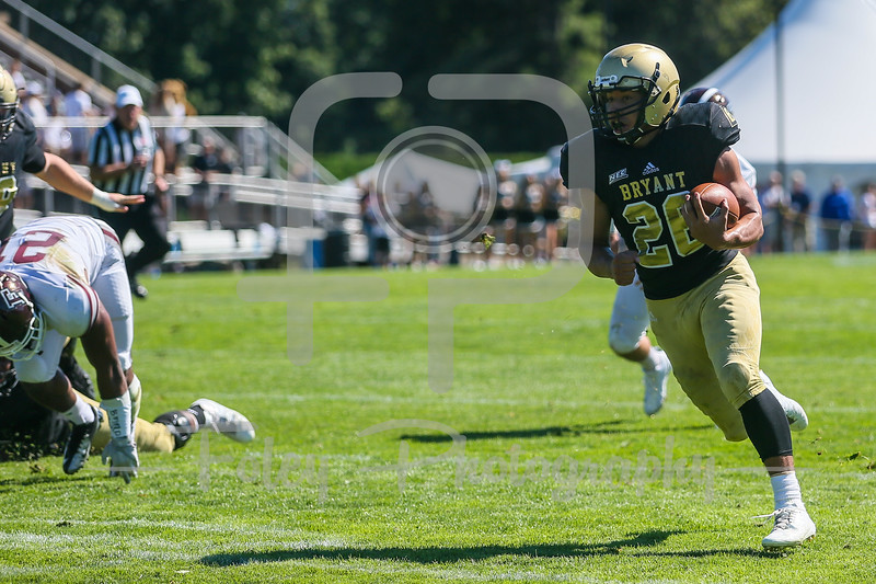 Bryant University Bulldogs running back Isaac McCray (26)