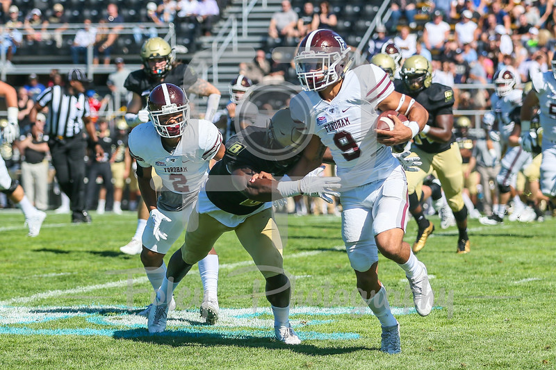 Fordham Rams running back Zach Davis (9)