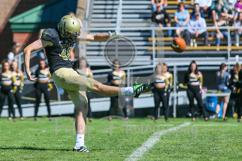 Bryant University Bulldogs place kicker Gavin Rowley (42)