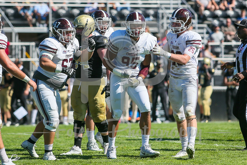 Fordham Rams defensive lineman Ellis Taylor (95)
