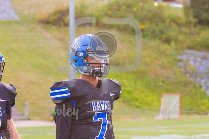 Becker College Hawks quarterback Nas Sinkfield-Shelton (7)