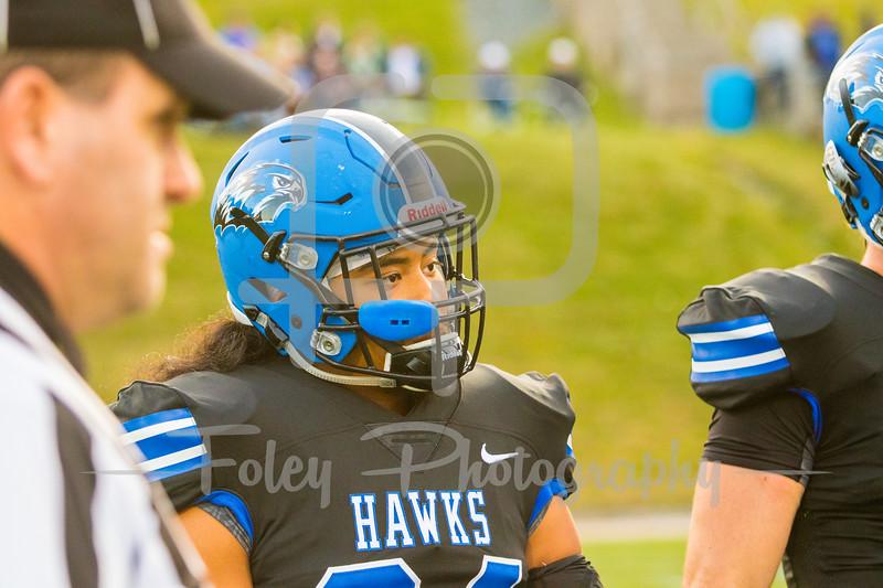 Becker College Hawks linebacker Angel Flores (34)