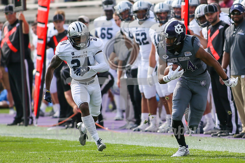 Holy Cross Crusaders wide receiver Martin Dorsey (84)