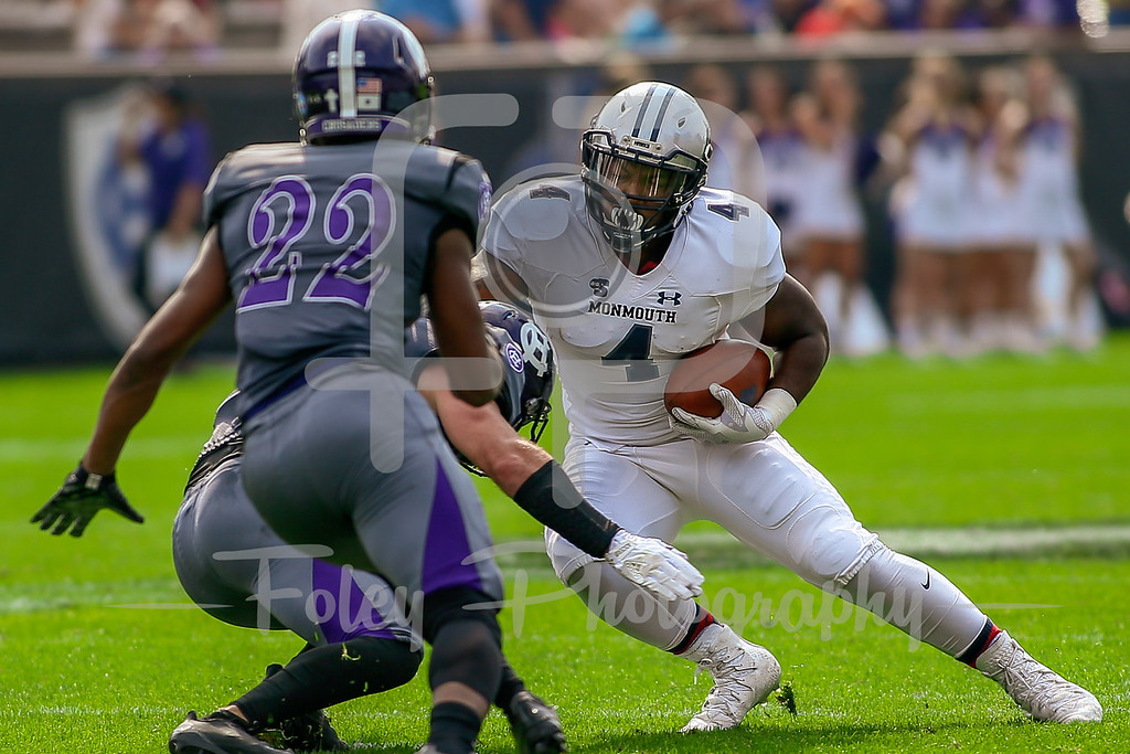 Monmouth Hawks running back Devell Jones (4)