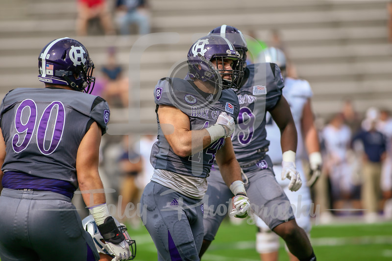 Holy Cross Crusaders linebacker Ryan Brady (44)
