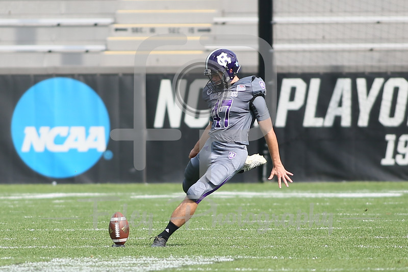 Holy Cross Crusaders place kicker Cody Wilkinson (47)