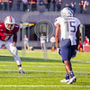 Massachusetts Minutemen linebacker Tedrick Lowery (6) Old Dominion Monarchs wide receiver Isaiah Harper (15)