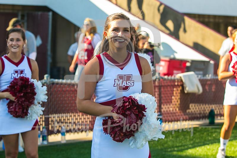 Massachusetts Minutemen Cheerleader