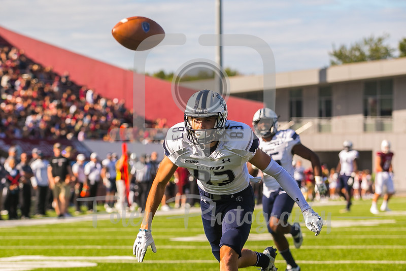 Old Dominion Monarchs wide receiver Jake Herslow (83)