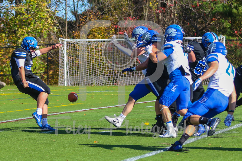 Nov. 4, 2017, Becker Alumni Field, Leicester, MA: during the Seahawks 55-0 victory over the Hawks.