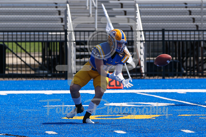 Sep. 04, 2021; West Haven, Connecticut, USA;  during a non conference matchup between Franklin Pierce and New Haven. The Chargers won the game 30-14 over the Ravens at Ralph F. DellaCamera Stadium. Photo by Foley-Photography.