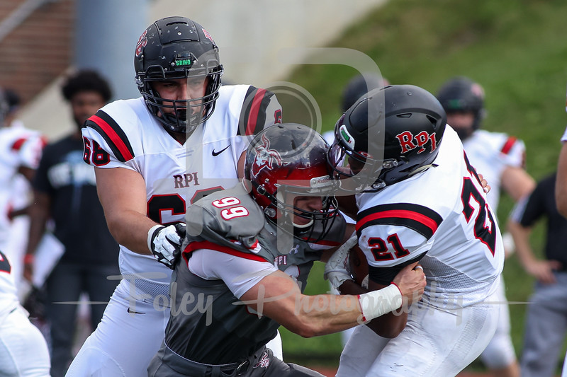 Sep. 18, 2021; Worcester, Massachusetts, USA;  during a non conference matchup between RPI and WPI. RPI won the game 24-10 over WPI at Alumni Field. Photo by Foley-Photography.