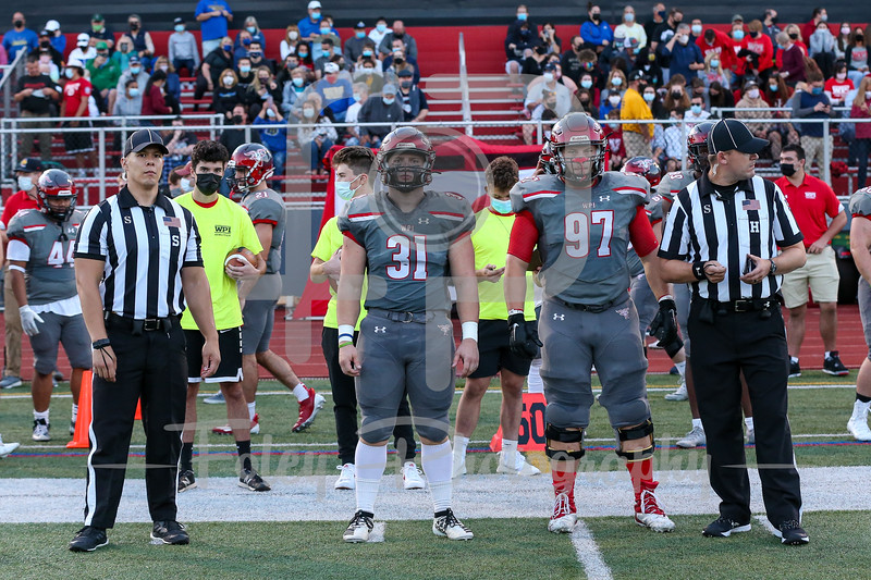 Sep. 03, 2021; Worcester, Massachusetts, USA;  during a non conference matchup between Worcester State and WPI. The Engineers won the game 38-20 over the Lancers at Alumni Field. Photo by Foley-Photography.