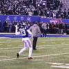 Odell throws left-handed during pre-game warm-ups.