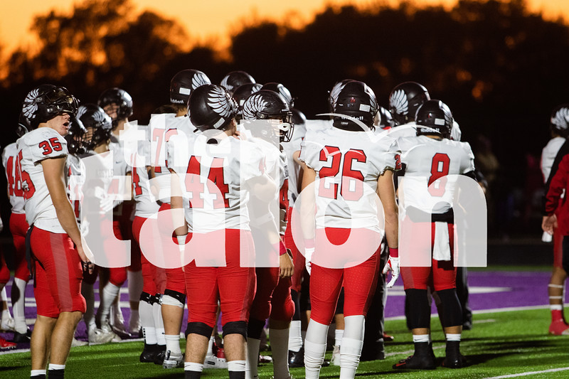 The Argyle eagles football team play in Eagles vs. Anna at Anna Stadium in Anna, Texas on Nov. 1, 2019. (Sloan Dial | The Talon News)