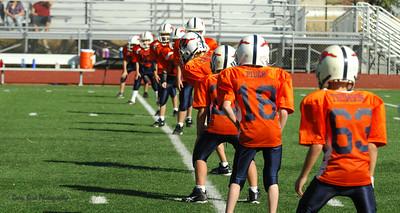 20101002 8255 WFFL Mitey Mite, Brigham City White @ Mtn. Crest Orange (Stadium)