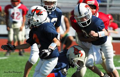 20101002 7430 Jr. Pee Wee, Logan Red @ Mtn. Crest Blue (Stadium)