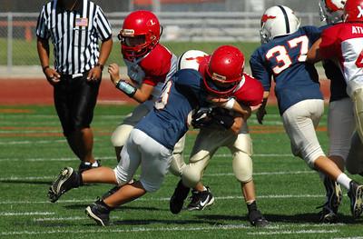 20101002 7381 Jr. Pee Wee, Logan Red @ Mtn. Crest Blue (Stadium)