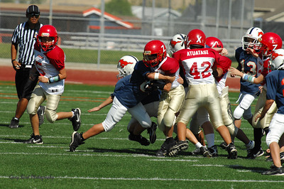 20101002 7382 Jr. Pee Wee, Logan Red @ Mtn. Crest Blue (Stadium)