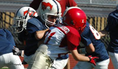 20101002 7475 Jr. Pee Wee, Logan Red @ Mtn. Crest Blue (Stadium)