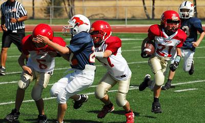 20101002 7396 Jr. Pee Wee, Logan Red @ Mtn. Crest Blue (Stadium)