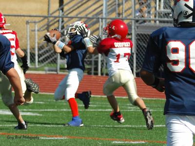 20101002 7467 Jr. Pee Wee, Logan Red @ Mtn. Crest Blue (Stadium)