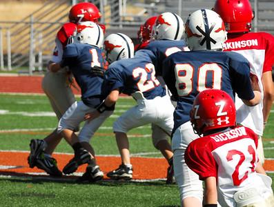 20101002 7408 Jr. Pee Wee, Logan Red @ Mtn. Crest Blue (Stadium)
