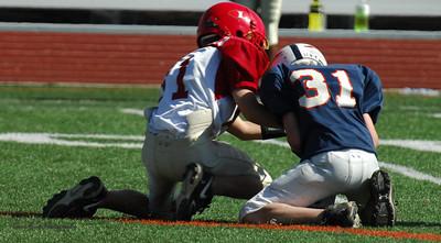 20101002 7426 Jr. Pee Wee, Logan Red @ Mtn. Crest Blue (Stadium)