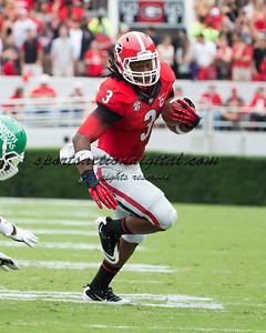 Georgia Bulldogs running back Todd Gurley (3)
