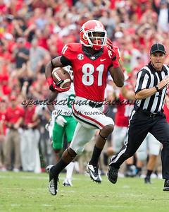 Georgia Bulldogs wide receiver Reggie Davis (81)