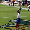 Odell catches a warm-up pass.