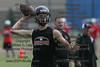 McComb's QB Clay Grubb fires a pass in the 7on7 tournament held in Findlay.
