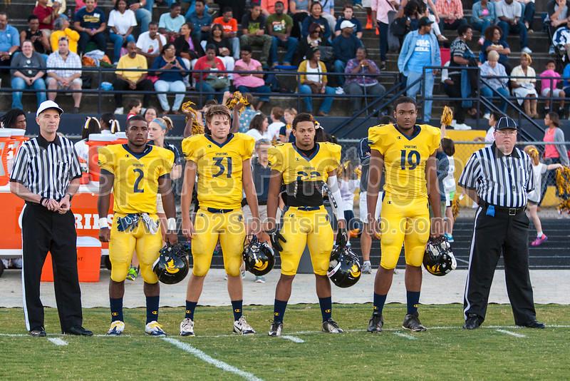 Mt Tabor Spartans vs Butler Bulldogs Varsity Football<br /> Friday, September 13, 2013 at Mt Tabor High School<br /> Winston-Salem, North Carolina<br /> (file 192445_803Q5732_1D3)