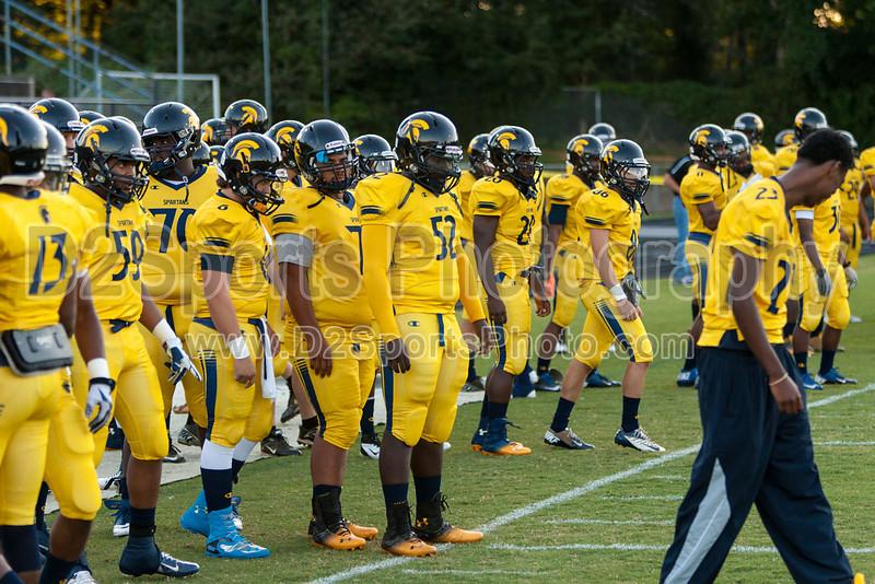 Mt Tabor Spartans vs Butler Bulldogs Varsity Football<br /> Friday, September 13, 2013 at Mt Tabor High School<br /> Winston-Salem, North Carolina<br /> (file 185629_803Q5680_1D3)
