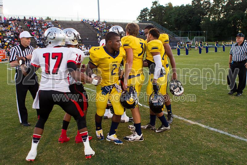 Mt Tabor Spartans vs Butler Bulldogs Varsity Football<br /> Friday, September 13, 2013 at Mt Tabor High School<br /> Winston-Salem, North Carolina<br /> (file 192622_BV0H6571_1D4)