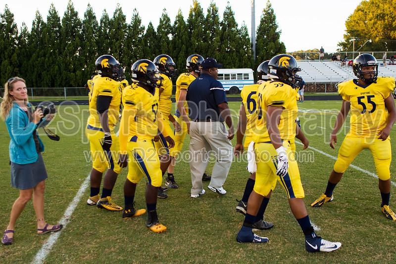 Mt Tabor Spartans vs Butler Bulldogs Varsity Football<br /> Friday, September 13, 2013 at Mt Tabor High School<br /> Winston-Salem, North Carolina<br /> (file 190742_BV0H6512_1D4)