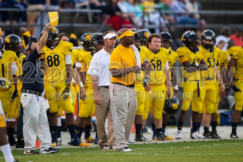 Mt Tabor Spartans vs Carver Yellow Jackets Varsity Football<br /> Friday, September 06, 2013 at Mt Tabor High School<br /> Winston-Salem, North Carolina<br /> (file 193537_BV0H5364_1D4)