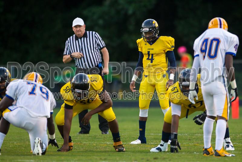 Mt Tabor Spartans vs Carver Yellow Jackets Varsity Football<br /> Friday, September 06, 2013 at Mt Tabor High School<br /> Winston-Salem, North Carolina<br /> (file 193315_BV0H5348_1D4)