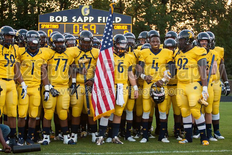 Mt Tabor Spartans vs Carver Yellow Jackets Varsity Football<br /> Friday, September 06, 2013 at Mt Tabor High School<br /> Winston-Salem, North Carolina<br /> (file 192702_803Q4787_1D3)