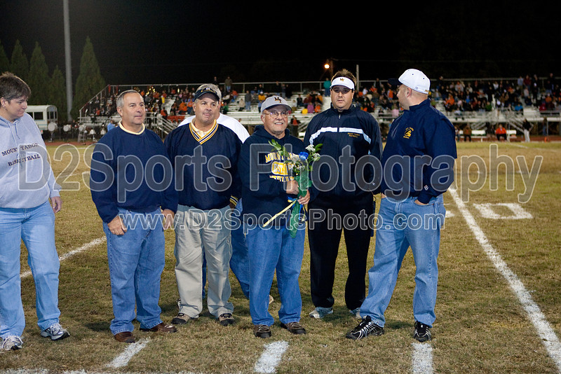 Steve Hays retirement presents<br /> half time of the Taboe/N Davidson football game<br /> Friday, October 30, 2009 at Mt Tabor High School<br /> Winston-Salem, North Carolina<br /> (file 210417_QE6Q1506_1D2N)