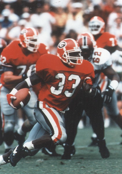 Terrell Davis - UGA tailback from 1992-1994 - (Photo from Georgia Sports Communication)