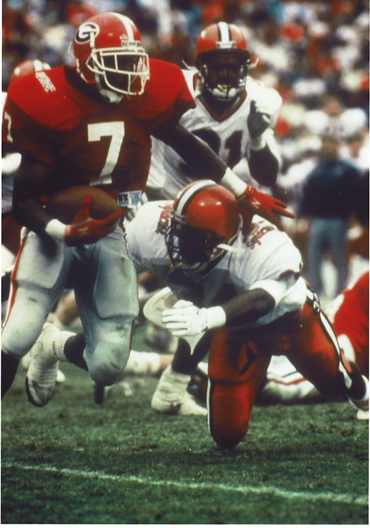 Rodney Hampton, Georgia RB 1987-1989 (photo courtesy of UGA)