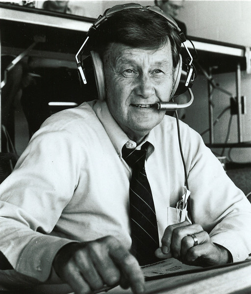 Larry Munson Voice of the Georgia Bulldogs from 1966 - 2008 (photo by Georgia Sports Communications)