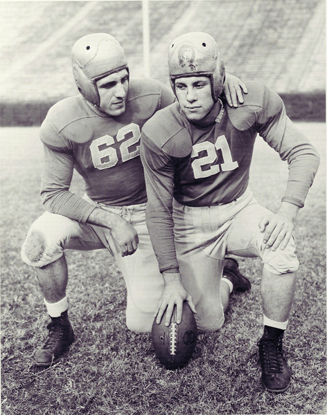 Georgia football legends Charley Trippi (62) and Frank Sinkwich (21) (Photo from Georgia Sports Communication)