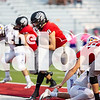 The Argyle Eagles Football team competes against the Sanger Indians at the homecoming game on the Argyle High School field in Argyle, Texas, on October 5, 2018. (GiGi Robertson/ The Talon News)