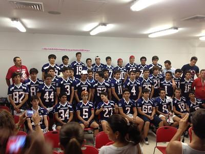 "Ceremonia de entrega de Jerseys. Juvenil ""A"" 2013. Troyanos Cancun"
